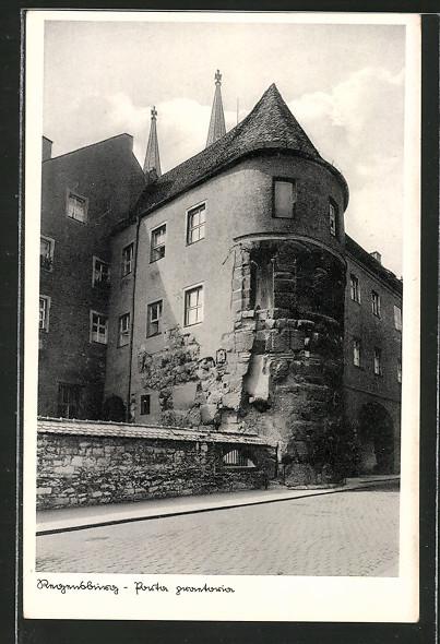 ak regensburg porta praetoria nr 6352945 oldthing ansichtskarten deutschland plz 90 99. Black Bedroom Furniture Sets. Home Design Ideas