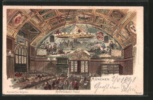 Kronleuchter Für Saal ~ Künstler ak theodor guggenberger münchen kronleuchter und