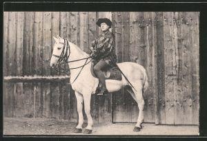 AK Mézières, Théatre du Jorat 1914, Schauspieler M. P. Strong als Gessler in Tell