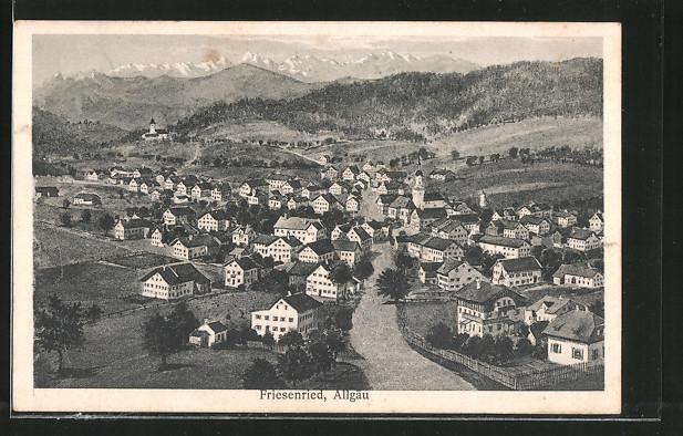 AK Friesenried, Gesamtansicht aus der Vogelschau