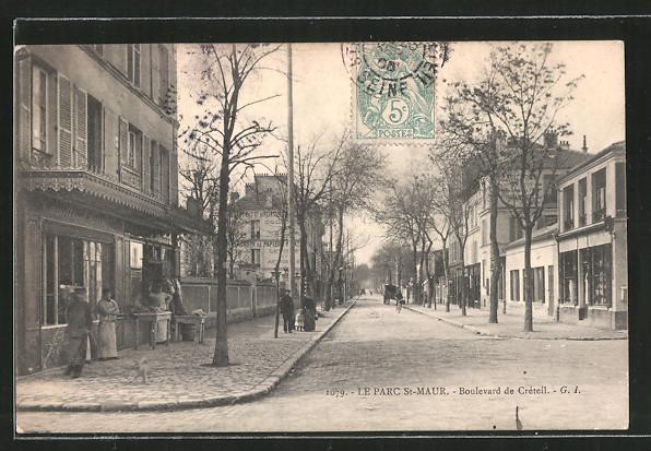 Ak le parc st maur passanten auf dem boulevard de cr teil nr 6367695 oldthing for Comboulevard de creteil saint maur