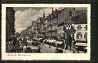 AK Karlsruhe, Strassenbahn und Ladengesch�fte in der Kaiserstrasse
