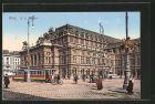 AK Wien, K. k. Hofoper mit Strassenbahn