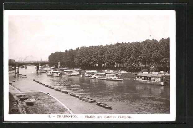 AK Charenton, station des bateaux parisiens