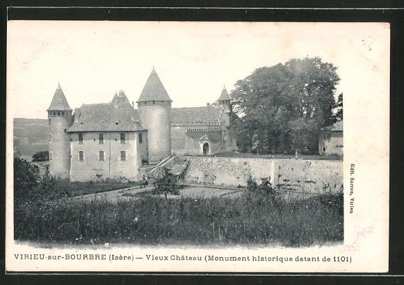 AK Virieu-sur-Bourbre, vieux château