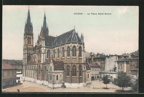AK Voiron, la place Saint-Bruno