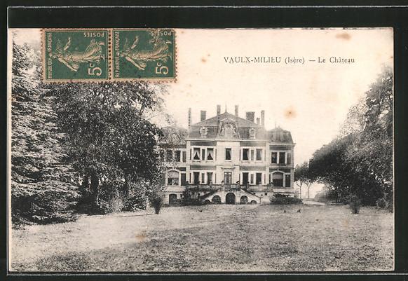 ak vaulx milieu le ch teau nr 6372120 oldthing ansichtskarten europa belgien frankreich. Black Bedroom Furniture Sets. Home Design Ideas