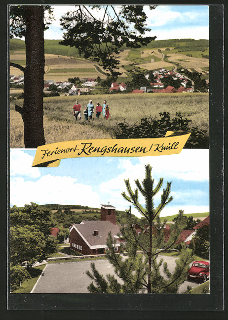 AK Knüllwald-Rengshausen, Ortspanorama, Ortsansicht