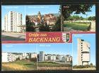 AK Backnang, Sulzbacher Strasse, Stiftskirche und Stadt-Turm, Freibad, Wasserturm, Berliner Strasse, Weststadt