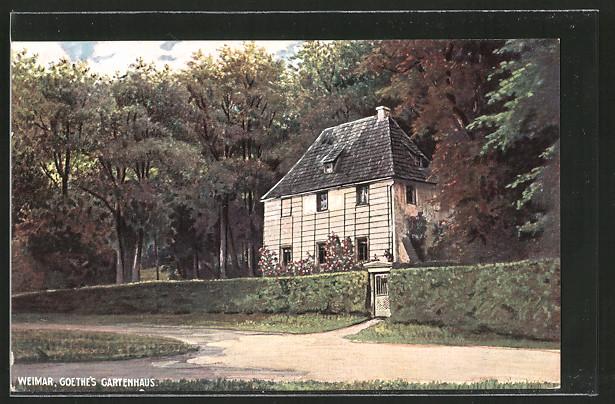 ak weimar goethe 39 s gartenhaus im park nr 6376231 oldthing adel pers nlichkeiten. Black Bedroom Furniture Sets. Home Design Ideas