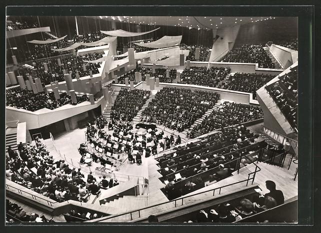 AK Berlin, Konzertsaal der Philharmonie, Innenansicht