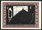 Notgeld Rossla, 1921, 50 Pfennig, Kaiser Barbarossa im unterirdischen Schloss, Schloss & Siegel