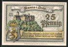 Notgeld Ranis, 1921, 25 Pfennig, Burg & Wappen