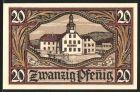 Notgeld Remda, 1921, 20 Pfennig, Rathaus, Wappen