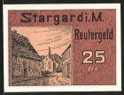 Notgeld Stargard, 1922, 25 Pfennig, Strassenpartie, Windm�hle