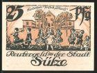 Notgeld S�lze, 1922, 25 Pfennig, Kinderheil-Anstalt, Wappen