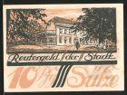 Notgeld S�lze, 1922, 10 Pfennig, Geb�udeansicht, Windm�hle
