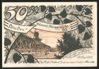 Notgeld S�lze, 1922, 50 Pfennig, Windm�hle, Ortsansicht mit Kirche