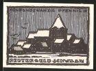 Notgeld Schwaan, 1922, 25 Pfennig, Ortsansicht, Br�cke