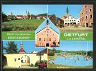 AK Dietfurt, Teilansicht, Rathaus, Kirchpartie, Badespass im Freibad