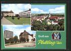 AK Plattling, Krankenhaus, Gesamtansicht, St. Josefsheim und BAK Altenheim