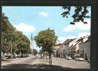 AK Plattling, Ludwigsplatz mit Blick zur Kirche