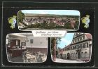 AK Nimburg, Panoramaansicht, Gasthaus \