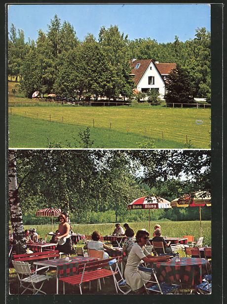 AK Bad Wörishofen, Café-Restaurant Jagdhäusle mit Terrasse