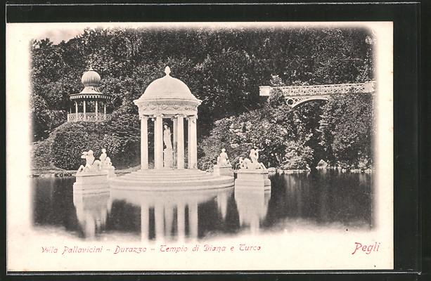 AK Pegli, Villa Pallavicini, Durazzo, Tempio di Diana e Turca
