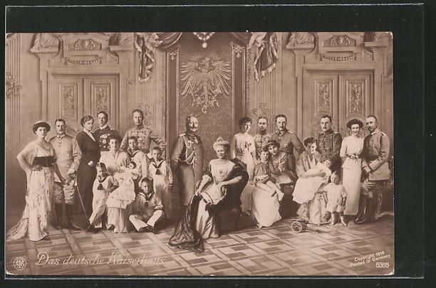 Fotomontage-AK Das deutsche Kaiserhaus
