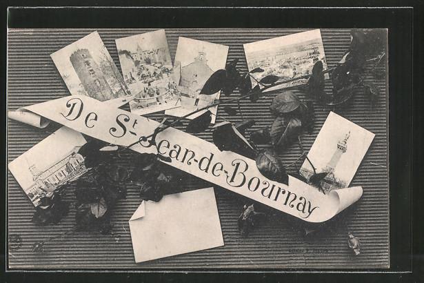 AK St-Jean-de-Bournay, verschiedene Ansichten