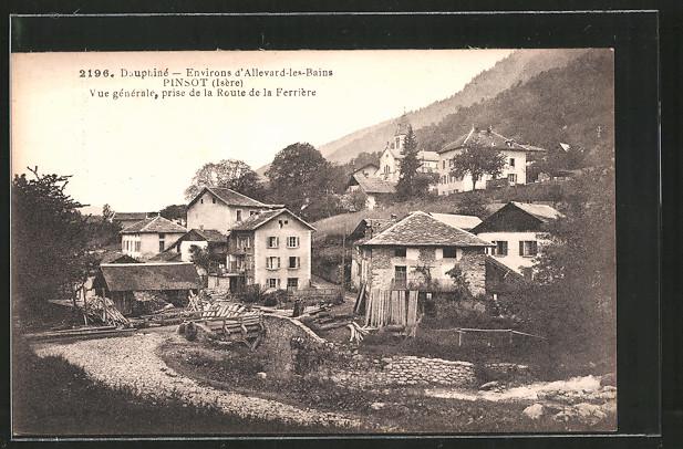 AK Pinsot, vue générale prise de la route de la Ferrière