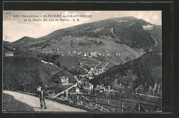 Ak saint pierre de chartreuse vue g n rale et route du - Office du tourisme st pierre de chartreuse ...