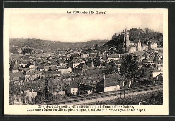 Ak la tour du pin vue g n rale agr gable petite ville for Piscine la tour du pin