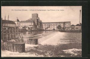 AK Coutras, L'usine de Laubardemont, les écluses et les chutes