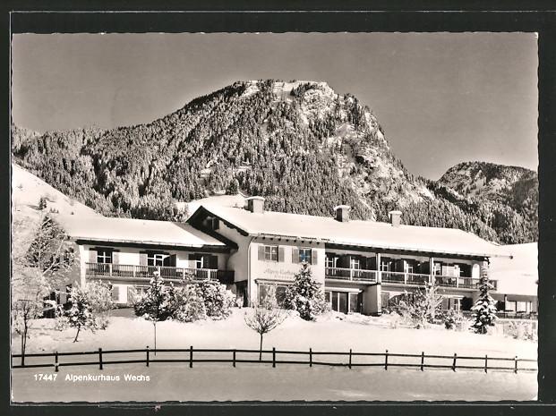 AK Hindelang, Alpenkurhaus Wechs mit Umland