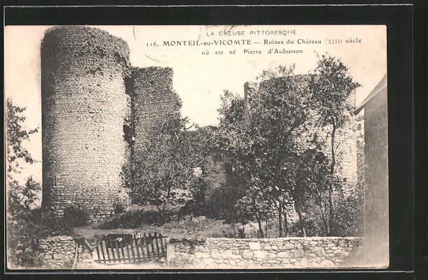 AK Monteil-au-Vicomte, ruines du château