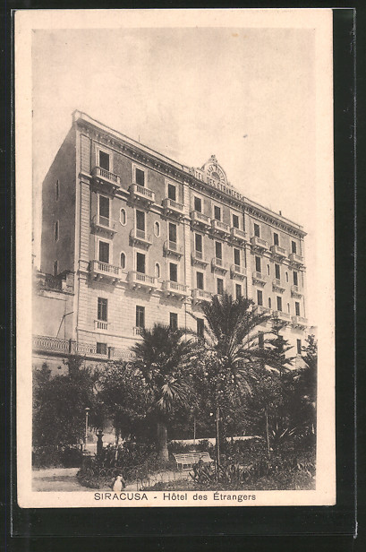 Ak siracusa h tel des trangers nr 6416118 oldthing for Hotel des etrangers siracusa