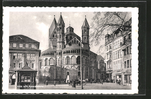ak k ln apostelkirche am neumarkt nr 6417394 oldthing ansichtskarten deutschland plz 50. Black Bedroom Furniture Sets. Home Design Ideas