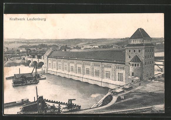 AK Laufenburg, Blick auf das Kraftwerk