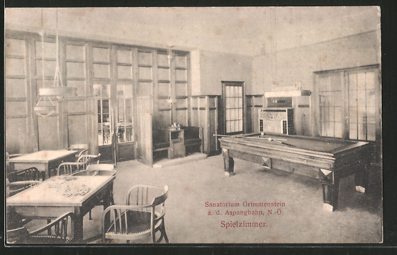 AK Grimmenstein a.d. Aspangbahn, Sanatorium, Spielzimmer