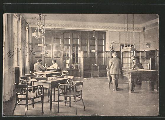 AK Grimmenstein, Sanatorium Grimmenstein, Gäste im Spielzimmer