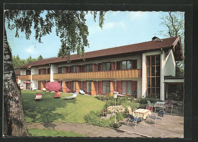 ak bad wiessee hotel kurheim edelweiss nr 6429052 oldthing ansichtskarten deutschland. Black Bedroom Furniture Sets. Home Design Ideas