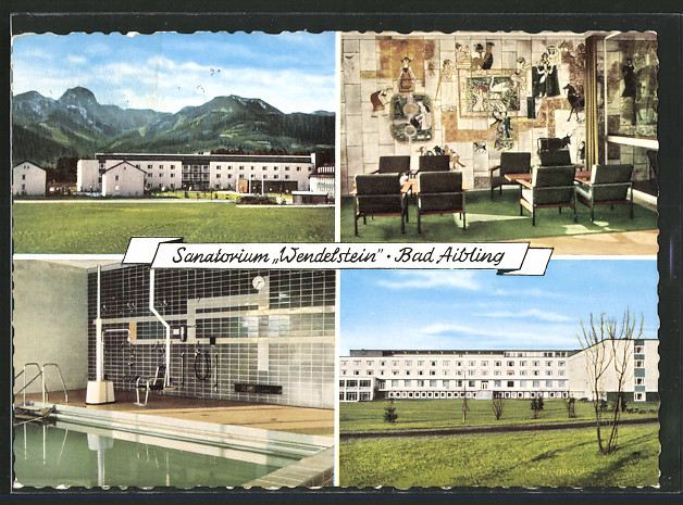 ak bad aibling sanatorium wendelstein aussen und innenansichten schwimmbad nr 6429238. Black Bedroom Furniture Sets. Home Design Ideas