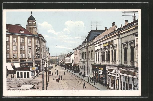 AK Osijek / Essegg, Blick in eine Geschäftsstrasse