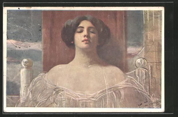 Künstler-AK Franciszek Zmurko: Portrait einer Dame