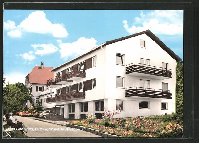 ak martinsmoos hotel erholungsheim haus k bler nr 6436375 oldthing ansichtskarten. Black Bedroom Furniture Sets. Home Design Ideas