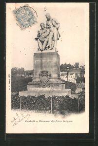 AK Corbeil, monument des Fréres Galignani