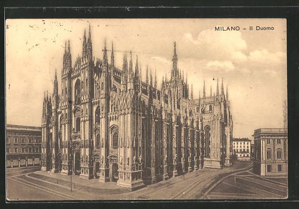 AK Milano, Il Duomo, Fassade des Domes