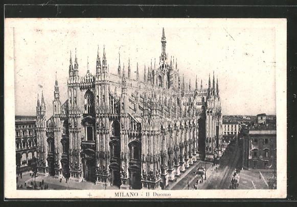AK Milano, Il Duomo, Gesamtansicht des Domes zu Mailand
